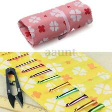 14 Slots Crochet Hook Knitting Needle Storage Case Holder Bag craft Organizer