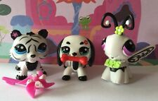 Littlest Pet Shop#2363#2364#2365 Black/white Walkable Dachshund Tiger Butterfly