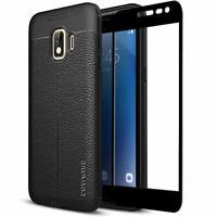 COVRWARE Samsung Galaxy J2 Pure J2 Core TPU Leather Case Glass Screen Protector
