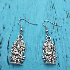 Ganesha Shiva earrings,Silver handmade ear stud,Fashion charm jewelry pendants