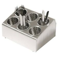 More details for stainless steel 6 slot cutlery dispenser with perforated holders