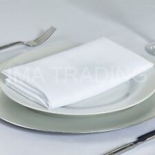 "100 WHITE NAPKINS 22"" X 22"", POLYESTER TABLE NAPKINS,  22X22 INCH, ""NEW"""