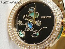 Invicta Womens Disney Limited Edition Crystal Accented Watch w/3 Slot Dive Case