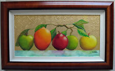 gorgeous texture! FRUIT MEDLEY painting LAGUNA BEACH artist  gallery price $900