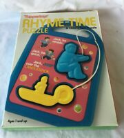 *1988 Tupperware Tuppertoys RHYME TIME Puzzle Jack Be Nimble in Box