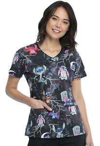 Lilo and Stitch Cherokee Scrubs Tooniforms Halloween V Neck Top TF614 LHOOD