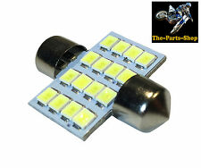 WHITE 31MM C5W FESTOON 16 LED INTERIOR BULB MITSUBISHI L200 PAJERO SHOGUN EVO 6