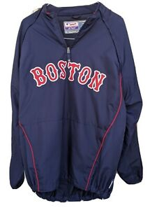 Boston Red Sox Majestic Authentic MLB size X-Large 1/4 Zip. Long Sleeves Zip Off