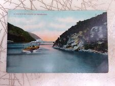 HUDSON RIVER South of Newburgh NY - steamship early divided postcard