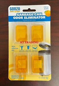 (4-Pk) GONZO GARBAGE CAN Litter Boxes ~ Air Freshener PERMANENT ODOR ELIMINATOR