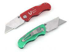 Set of 2 Vulcan Gear Utility Knives Box Cutter Set with 10 Extra Blades Included