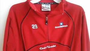 NASCAR #29 Kevin Harvick Chase Authentics Red L 1/4 Sweater 100% Polyester--EUC!