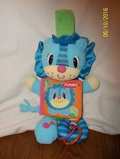 Playskool Picture Puppet Story Lion Plush Soft Book Squeaker Rattle 12""