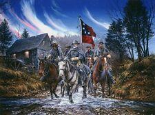 """The Northern Lights""John Paul Strain Lithograph Robert E. Lee Fredericksburg VA"