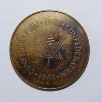 1867 - 1967 Canada Confederation Value Historical Medal