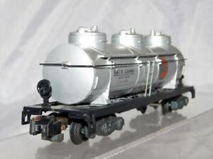American Flyer 926 GULF OIL Triple Dome Tank Car S gauge GATX 33648 Plastic base