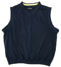 Reebok Golf Men's Large Pullover Vest Navy Blue Sleeveless Polyester Lined
