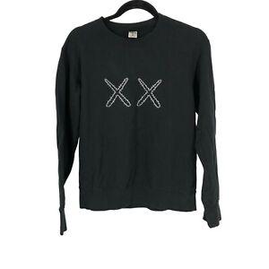 Uniqlo Mens Kaws Sesame Street XX Sweatshirt Pullover Sweater Black Small S