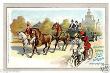 POSTCARD GERMAN 1899 SPORTS EXPOSITION MUNICH BICYCLE HORSES