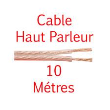 Câble Haut Parleur sous Gaine Transparente Section 2 x 4 mm² Long 10 Métres