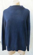 Vince navy blue cashmere knit funnel neck heavy pullover sweater sz M