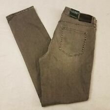 Lauren Ralph Lauren Jeans 2 Gray Straight Leg Stretch Slimming Premier New