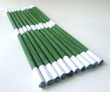 """Gauge 12"""" Floral Wire Floral Stub Stem Craft Green Tape Wrapped 1 bundle 100"""