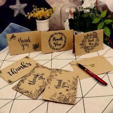 8× Blank Mini Kraft Bulk Thank You Note Cards With Envelopes Wedding Birthday