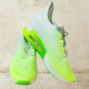New DKNY Ashly Women's Sneakers Ombre Lace Up Neon Green, White_ Sizes 7, 7.5
