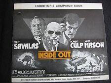 RARE FILM EXHIBITOR'S CAMPAIGN BOOK 'INSIDE OUT' 1975 T.Savalas,J.Mason + STILL