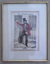 More details for antique postal history print - the postman's knock - song - framed.