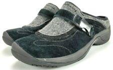 Merrell Encore Sidestep Clog Shoes Black Suede Slip-on Buckle Women's Size 6