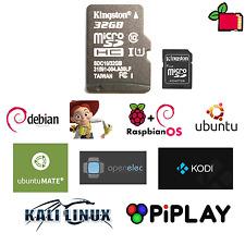 Preinstallato Raspberry Pi 32GB SD CARD Linux Kodi piplay Ubuntu NOOBS Kali KANO