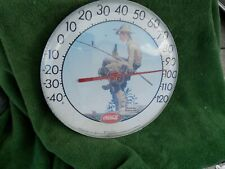 "Rare Vintage Norman Rockwell Coca Cola Ohio Jumbo Thermometer 12"" Estate Find"
