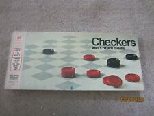 """Vintage 1970 Milton Bradley """" Checkers + 5 Other Games """" / Complete"""