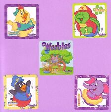 10 Weebles - Large Stickers - Party Favors - Zuzie Q, Tooey, Tibby, Pendleton