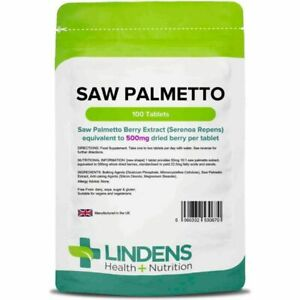 Saw Palmetto; 500mg 100 Tablets