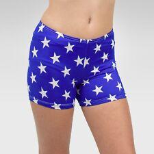 """Patriotic"" shorts size Intermediate(7-8 years) child, blue/ white stars print"