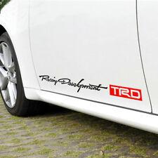 "2 PCS Graphics Racing Development Car Sticker Side Skirt Decal For Toyota 27.5"""