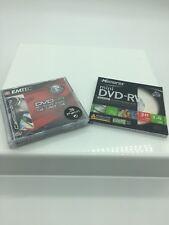 EMTEC DVD-R 8cm 1.4GB 30 Min. 4x DVD Camcorder 3 Pk & 1 Memorex RW Bonus New