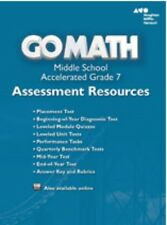 Grade 7 Go Math Accelerated Assessment Resources with Answers Middle School 7th