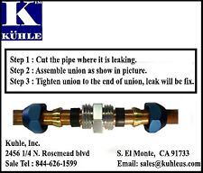 FIX AC LEAK METAL LINE SPLICE A/C REPAIR KIT 12MM FITTINGS included