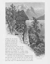 View from Molde Faleide HOLZSTICHE um 1880 Norwegen Norway