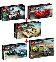 LEGO® Speed Champions Sammlung 76895 + 76896 + 76897 + 76898 + 76899 NEU / OVP