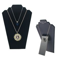 Black Velvet Necklace Pendant Jewellery Display Stand Bust Show Holder Shelf New