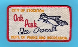 Oak Park Ice Arena Patch Stockton California 1970s-1980s Dept of Parks & Rec