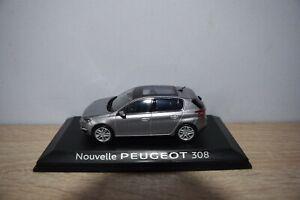 Miniature Peugeot 308 II (cielo)1/43 Gris Artense - neuve