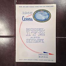 1965 Cessna 172 and Skyhawk Owner's Manual