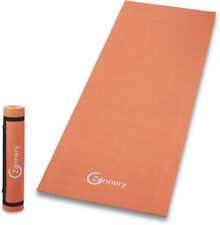 Non-Slip Yoga Mat with Adjustable Carrying Strap - Orange, Zennery,