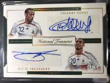 2018 National Treasures Soccer Thierry Henry David Trezeguet DUAL AUTO #08/10